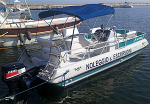 Pontoon Euphoria boat rental in Ostuni
